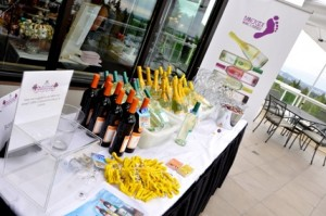 Barefoot Wines table at the Jewels for a Cause Event