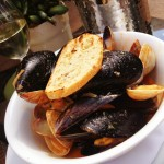 Mussels at Quails Gate Estate Winery, Canada