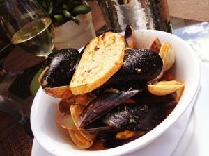 Mussels at Quails Gate Winery