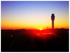 Sunrise at Atlanta Airport