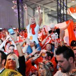 Canadian fans at Vancouver 2010 Olympics.
