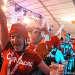 Canadian fan at Vancouver 2010 Olympics.