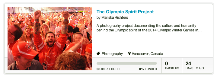 The Olympic Spirit Project on Kickstarter
