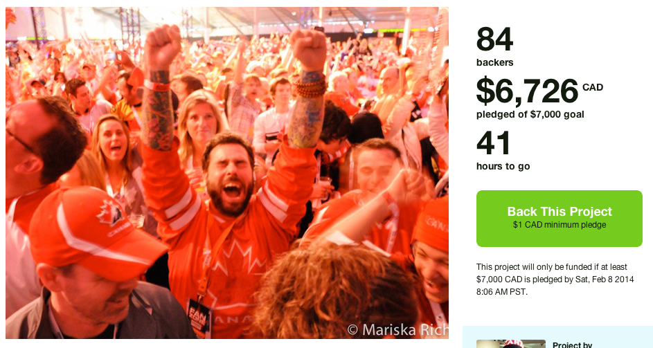 41 hours to go for the Olympic Spirit Project on Kickstarter