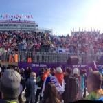 Rosa Khutor Extreme Park fans at Sochi 2014.