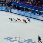 Short track speed skating at Sochi 2014.