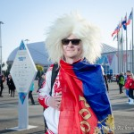 Russian fan at Sochi 2014.