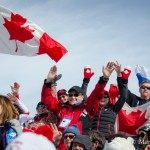 Canadian Fans at Men's Ski Cross