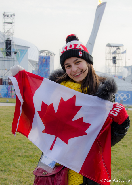 Russian girl in Canada gear