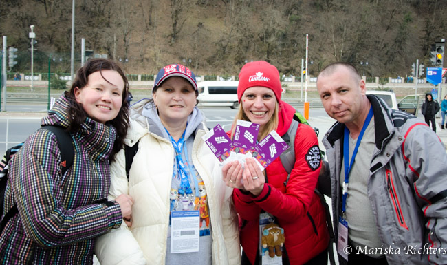 Giving Bobsleigh Tickets to Russians