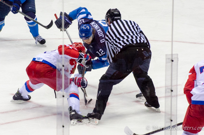 Russia vs Finland Quarter Final Hockey