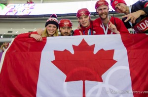 Canada vs Latvia with the Helmet Heads