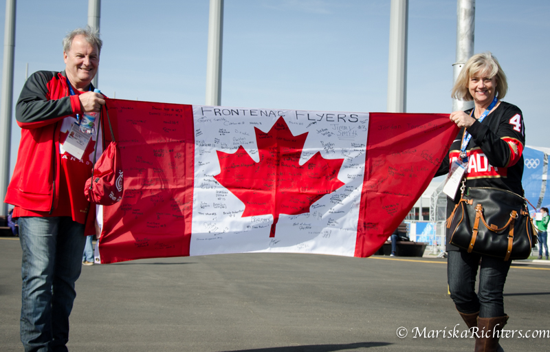 Signed Canadian Flag