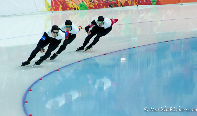 Team Canada - Team Pursuit Speed Skating Sochi 2014