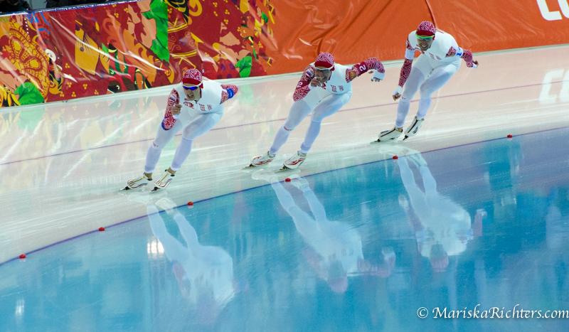 Team Russia - Team Pursuit Speed Skating Sochi 2014