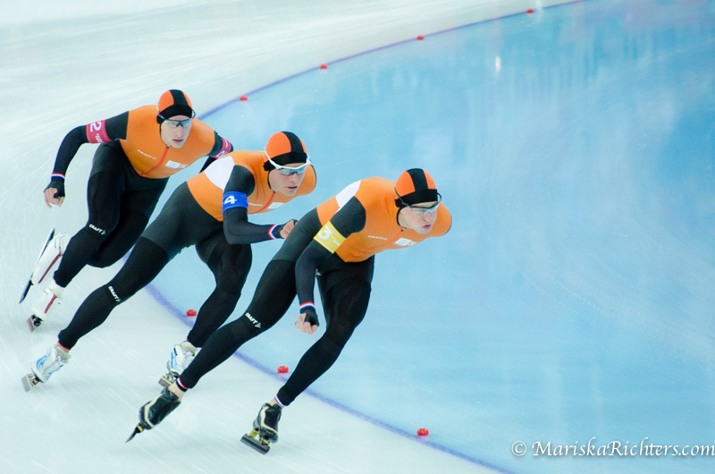 Team Netherlands - Team Pursuit Speed Skating Sochi 2014