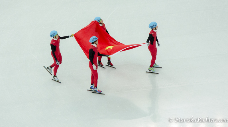 China wins bronze in the 5000m relay at Sochi 2014