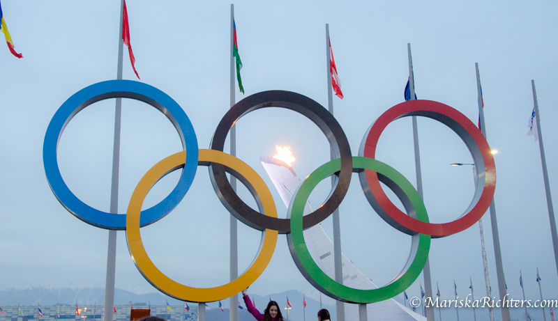 Sochi 2014 Olympic Rings & Cauldron