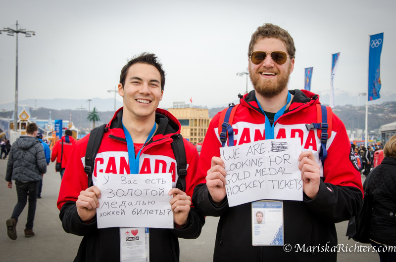 Canadians looking for Gold Medal tickets at Sochi 2014