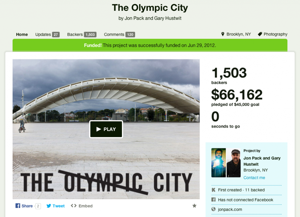 Olympic City Project on Kickstarter