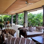 Villa Kembang Kertas Bali - Main floor deck and lounge areas.