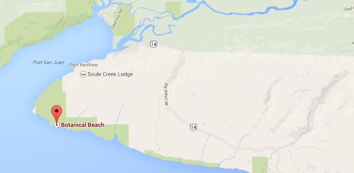Botanical Beach, BC - Map