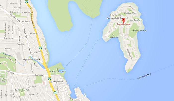 Protection Island on Google Maps