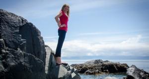 Climbing Rocks at Sandcut Beach