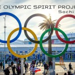 Postcard: Olympic Rings at Sochi 2014