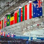 Postcard: International Flags at Sochi 2014