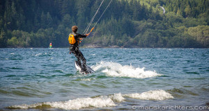 Kiteboarding at Nitinat Lake