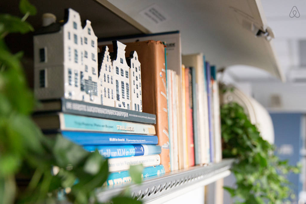 KLM Airplane Apartment - Bookshelf