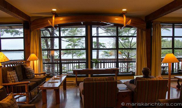 Middle Beach Lodge Lounge View - Tofino
