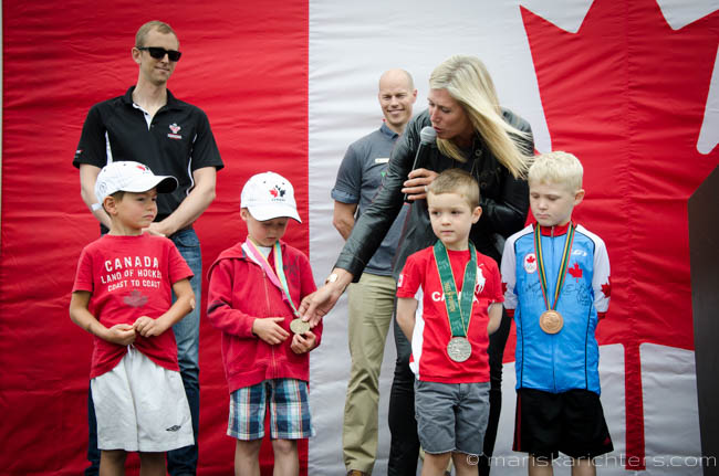 Silken Laumann with her medals at RioReady Press Conference