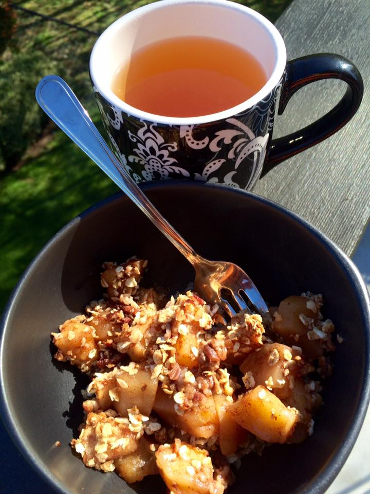Apple Crisp with Earl Grey del la Creme Tea