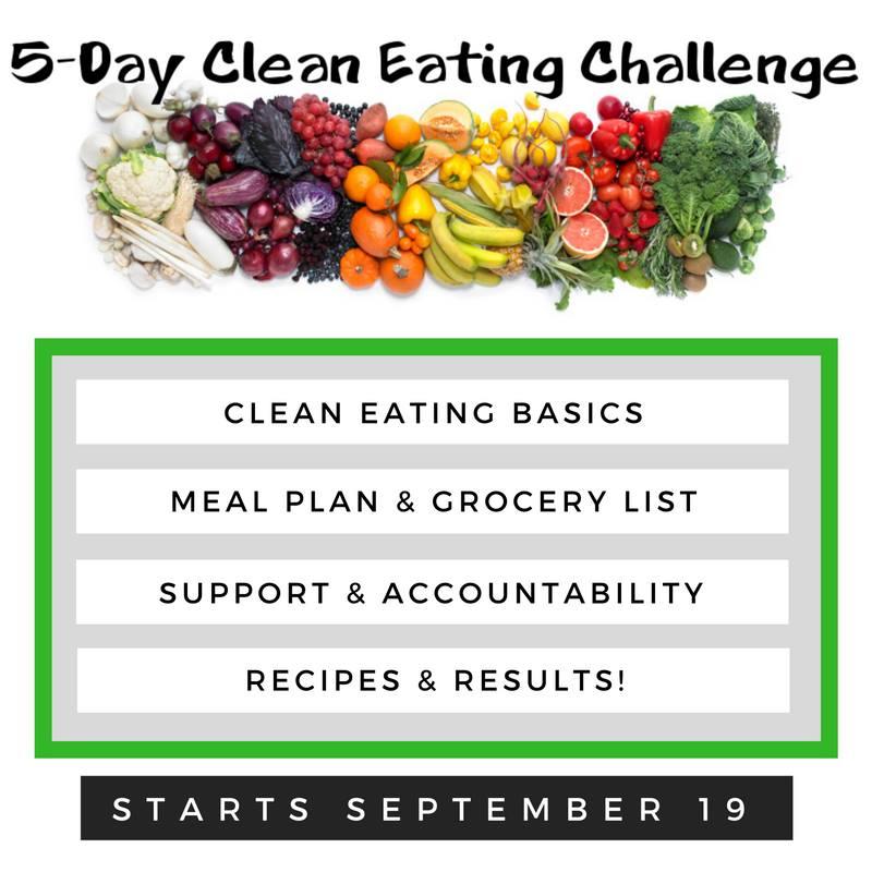 Free Clean Eating Challenge, Starts September 19