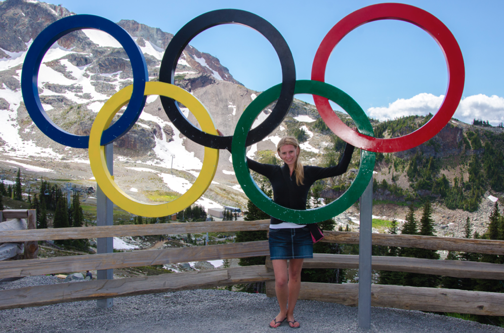 Mariska RIchters at the Whistler 2010 Olympic Rings