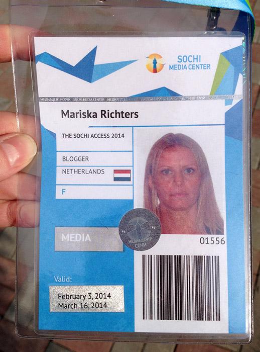 Sochi Media Centre Badge