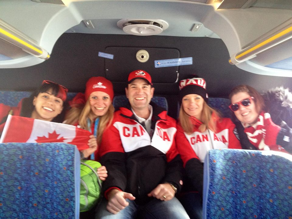 Canadians taking over the back of a Russian bus!