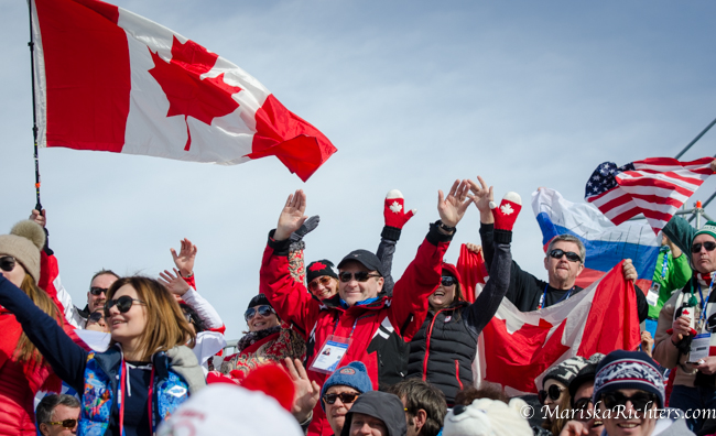 Canadian Fans at Men's Ski Cross