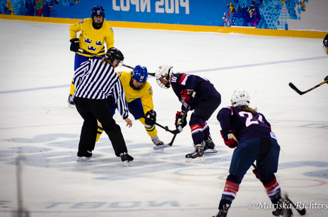 USA vs Sweden Women's Hockey