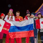 Russian Fans at the Olympic Cauldron