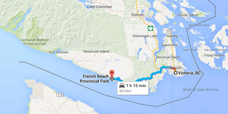 French Beach Provincial Park - Map