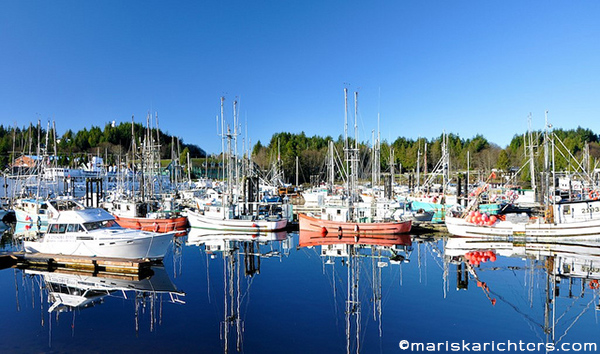 Ucluelet Boat Reflections