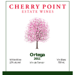 Cherry Point Wines - ortega_2011_front