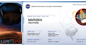 NASA Boarding Pass to Mars