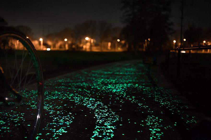 Van Gogh Roosengaarde Glowing Bike Path