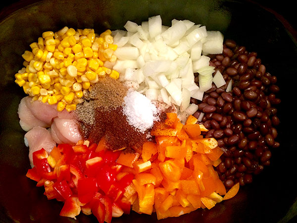 Cilantro Lime Chicken with Corn and Black Beans - Ingredients