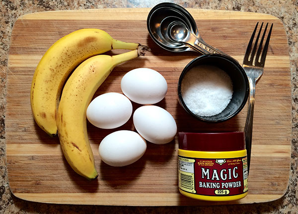 Flourless Banana Pancakes - Ingredients